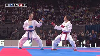 Final Male Kumite -60Kg. Amir Mehdizadeh vs Douglas Brose. World Karate Championships 2012(INSTAGRAM: http://instagram.com/worldkaratefederation Subscribe to WKFKarateWorldChamps! http://bit.ly/N7c4H0 Final Male Kumite -60Kg. Amir ..., 2013-04-25T12:02:30.000Z)