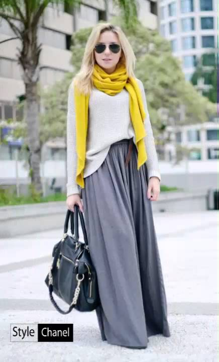 12d6a0a408 Stylish And Comfy Winter Maxi Skirt Outfits - YouTube