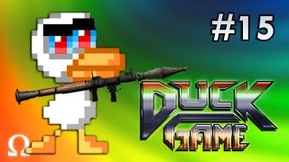 NEW CRAZY LEVELS, LONGEST ROUND EVER! :D | Duck Game #15  (NEW MAPS!)