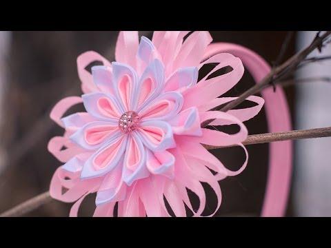 Мастер класс канзаши для начинающих Цветы из лент