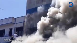 Breaking News | Fire razes down building in Saba Saba area in Mombasa