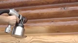 LEINOS. Окраска деревянного дома краскопультом Wagner(В 2013 году фирма Wagner разработала рекомендации по нанесению красок LEINOS / ЛАЙНОС с помощью окрасочного оборудо..., 2013-12-06T09:05:54.000Z)