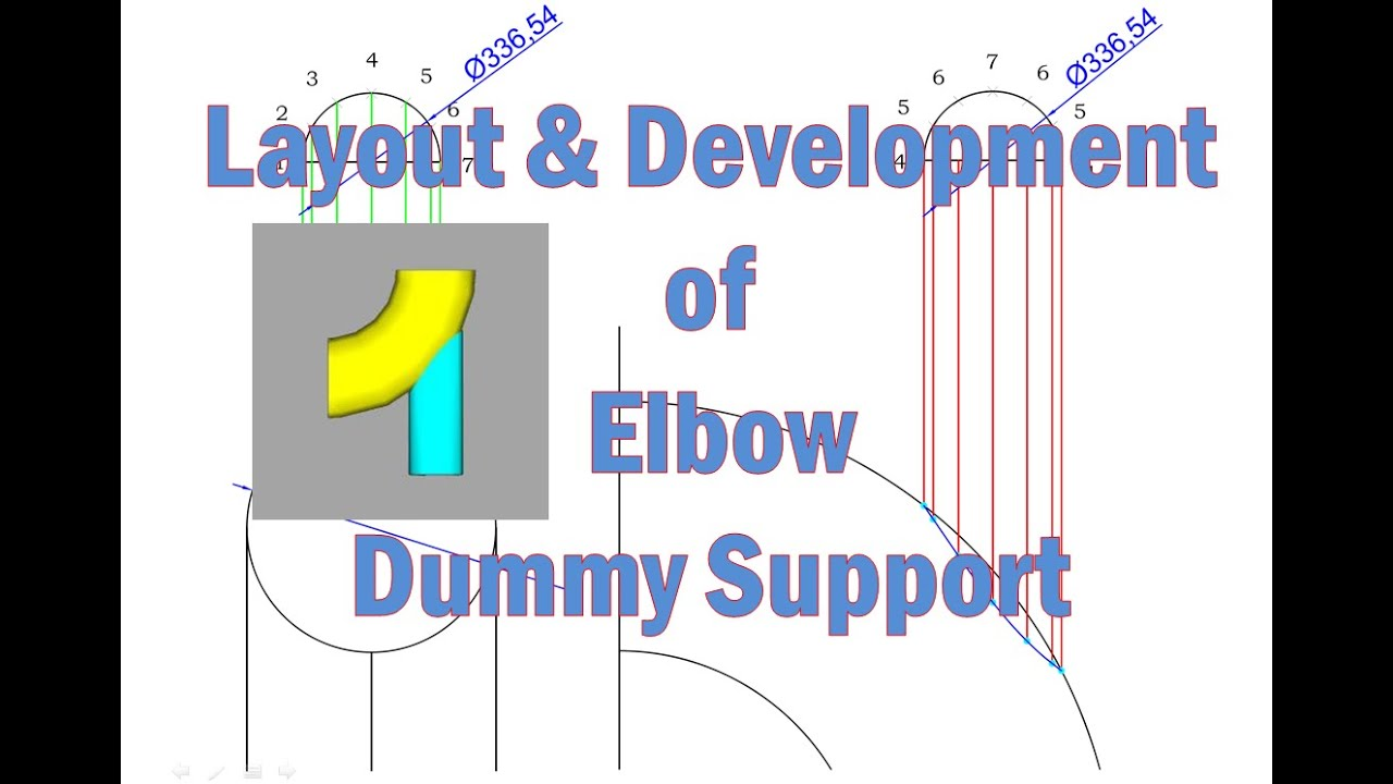 layout and development of elbow dummy support, wiring diagram