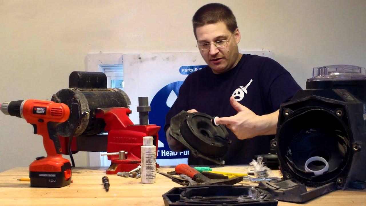 How To Install Hayward Super Pump II Seal - YouTube