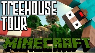 Minecraft Jungle Treehouse Tour HD + World Save Download