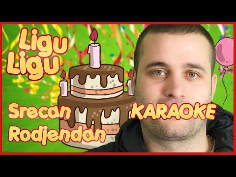 SERBIAN - KARAOKE SRECAN RODJENDAN INSTRUMENTAL ★ LIGU LIGU ★ Decije pesme / SerbianGamesBL