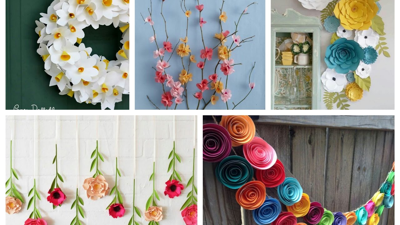 Paper Flowers Spring Decor Ideas  Spring Decorating Ideas  YouTube