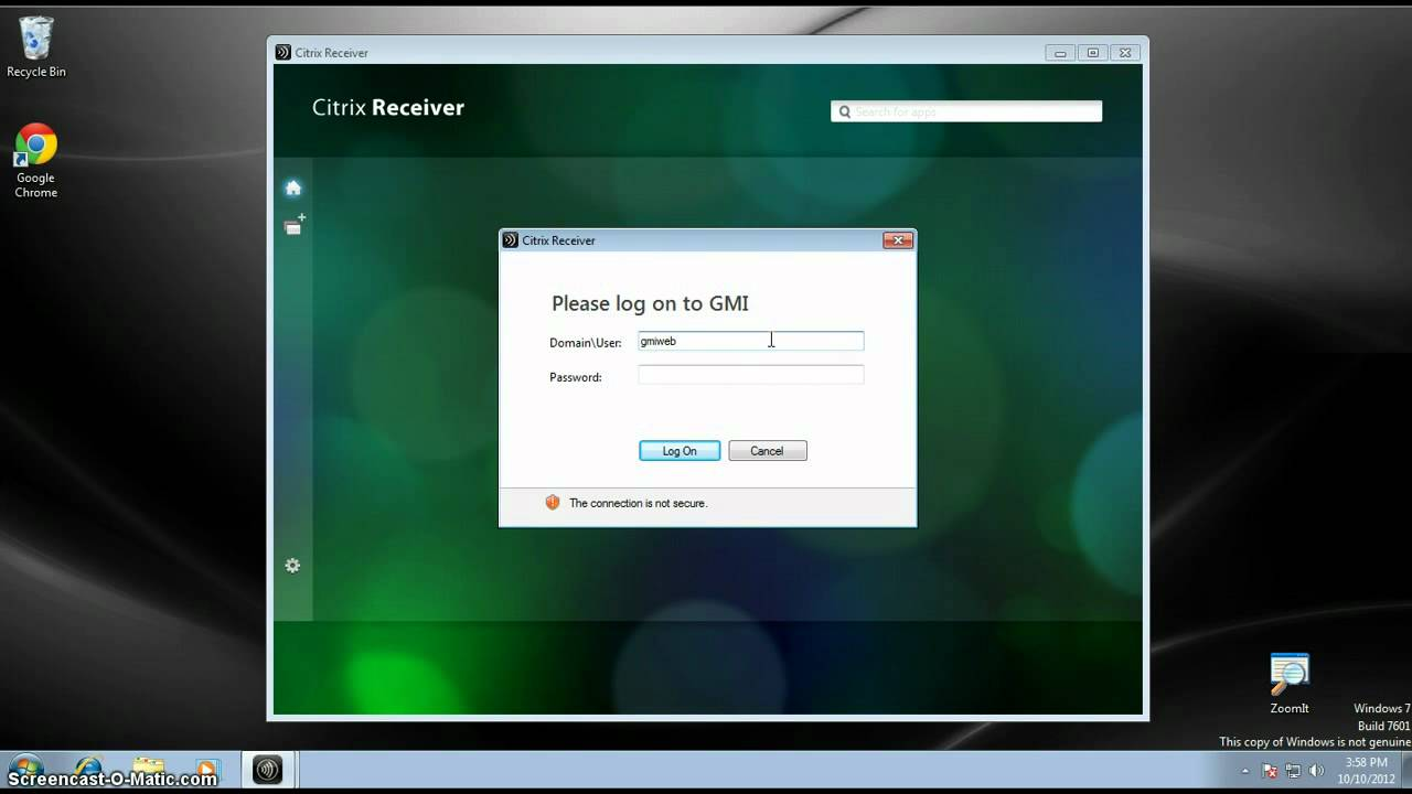 How to use Citrix Receiver