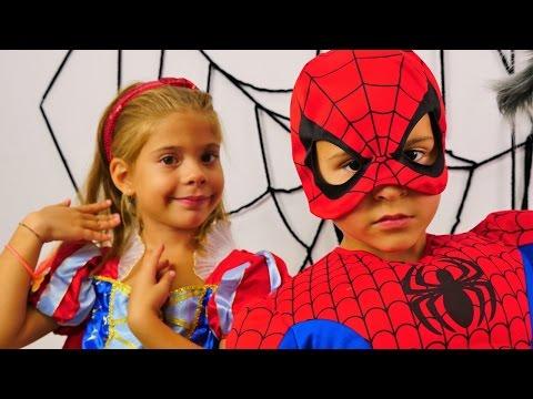 Çocuk videoları. Spiderman ve Prenses oyunu