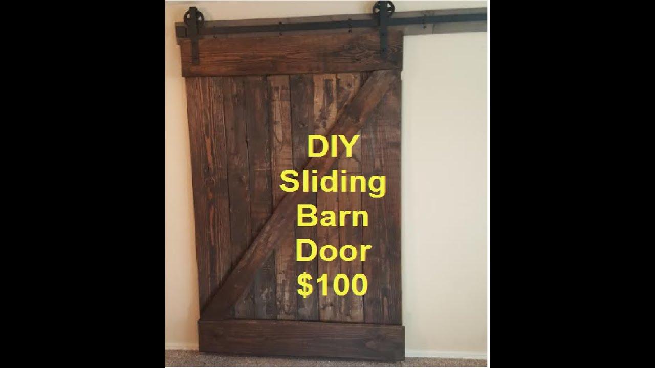 DIY custom large sliding barn door for $100