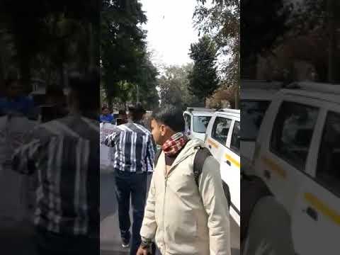Dharna ola uber and delhi govt 16/2/2018(14)