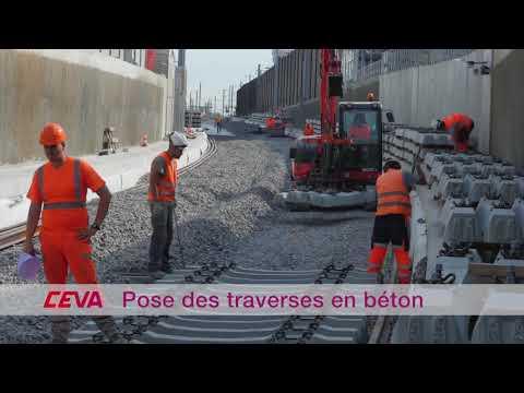 Time lapse pose des rails du Léman Express - CEVA France