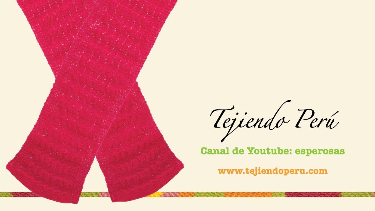 Cómo tejer una bufanda reverisble con el punto rejas caladas en dos ...