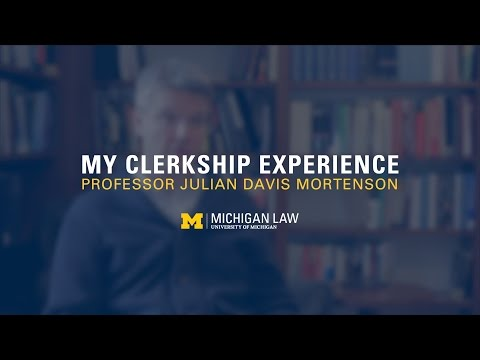 My Clerkship Experience: Professor Julian Davis Mortenson