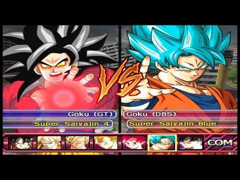 SSJ4 vs SSJ BLUE (Qual o Melhor ?) - Dragon Ball Z Budokai Tenkaichi 3