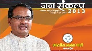 BJP MadhyaPradesh Manifesto Launch - State Election 2013