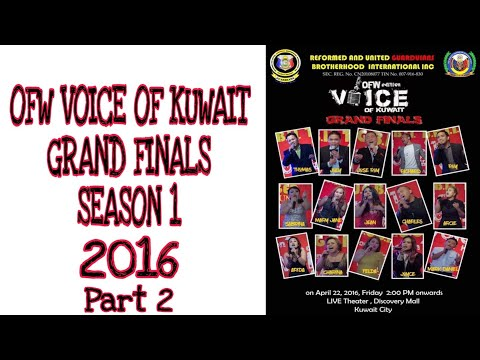 the voice of kuwait Grand finals 2016