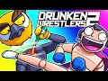 Drunken Wrestlers 2 Funny Moments - The Drunken Tournament!