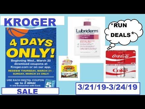 *RUN* Kroger 4-Day Sale!- 3/21/19-3/24/19- ABSOLUTELY INSANE DEALS!