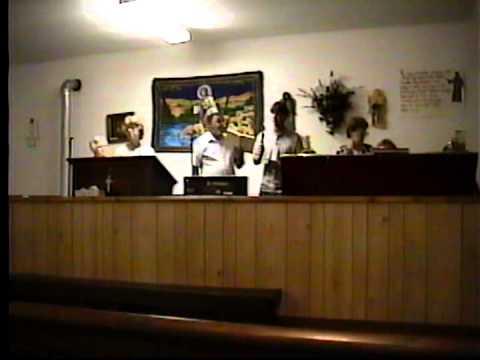 Chris Burgess at Pea Ridge (Roach) Community Church