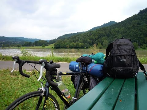 A lonely bike trip along Danube river