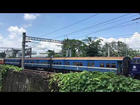 20190712     藍武士電力機車,554次行包莒光號,潮州往花蓮(經由海線),九曲堂站通過。