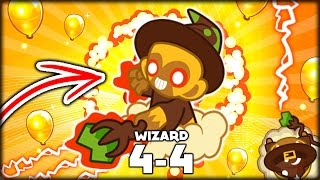 THIS IS THE MOST POWERFUL TOWER IN BTD 5!! THE NEW 4-4 WIZARD (Bloons Tower Defense 5/Bloons TD 5)