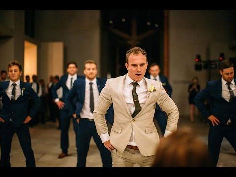 Groom Surprises Bride with Best Groomsmen Dance Ever
