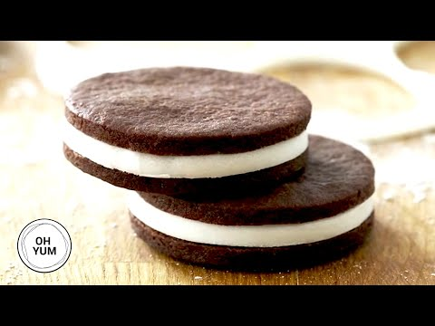 Chocolate Vanilla Sandwich Cookies | Oh Yum With Anna Olson