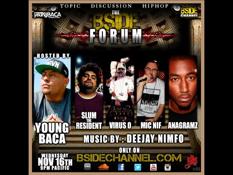 BSIDEFORUM ~ Slum the Resident ~ Virus O ~ Mic Nif ~ Anagram