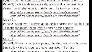 vijayee vishwa tiranga karaoke lyrics