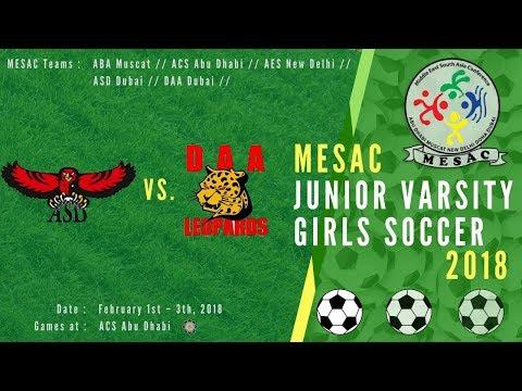JV Girls Football MESAC 2018: ASD vs DAA at ACS