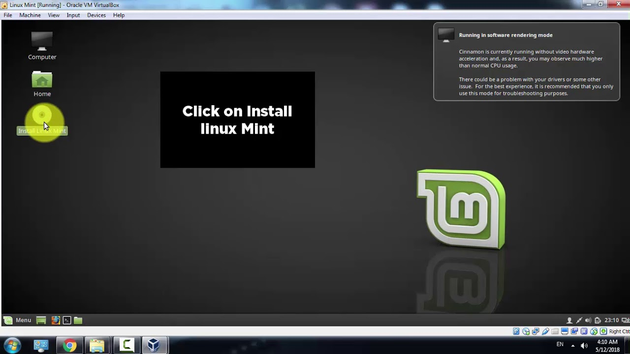 How to Install Linux Mint cinnamon 18.3 on VirtualBox ...