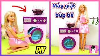 Cách làm máy giặt cho búp bê / How to make Washing machine for doll Ami DIY