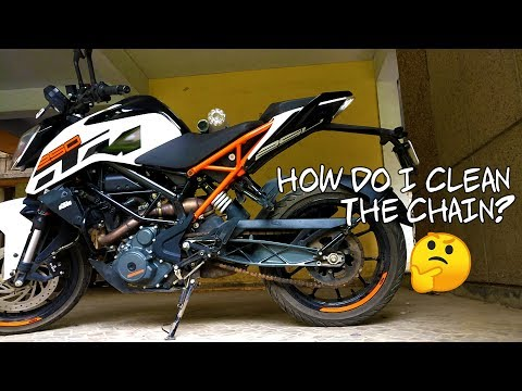 How to clean and lube your motorcycle chain | Monsoon care tips feat. KTM Duke 250