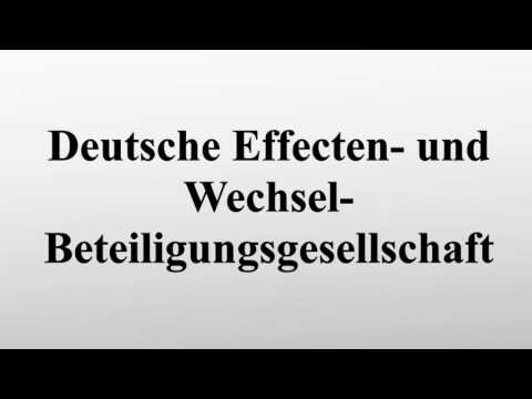 Deutsche Effecten- und Wechsel-Beteiligungsgesellschaft