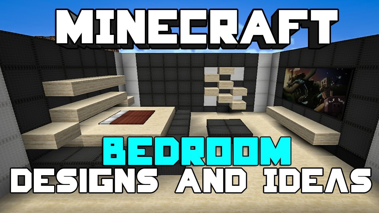 Minecraft bedroom designs ideas youtube for Bedroom designs youtube