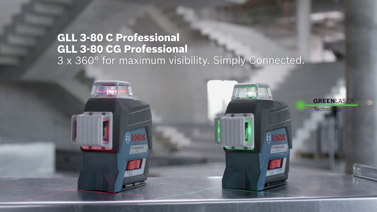 e430880453645d Visibility on a new level in 3 x 360° - the new line laser Bosch GLL 3-80  C CG Professional