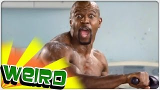 Terry Crews crashing a pair of commercials