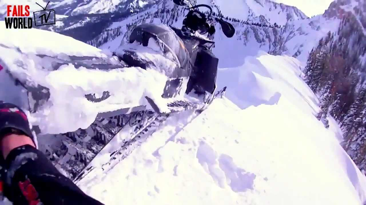 Snowmobile Almost Falls Off Cliff AMAZING SAVE MUST WATCH YouTube - This is what happens when you fly a snowmobile off a cliff
