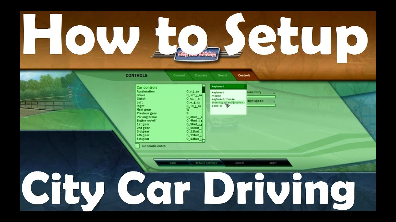 how to play city car driving with keyboard