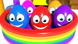 Learn Colors With Surprise Eggs Pool Colors For Children | Learning Colors For Kids