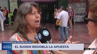 El Suoem retomó las protestas este lunes en la Municipalidad
