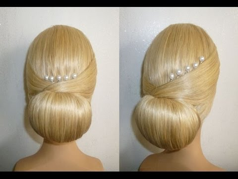 Easy&Quick Prom/Wedding Hairstyle. Evening Updo Hairstyles Tutorial.Penteados