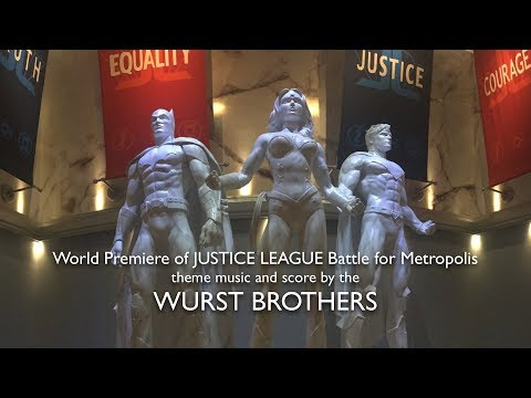 World Premiere of JUSTICE LEAGUE: BATTLE FOR METROPOLIS   music by the WURST BROS