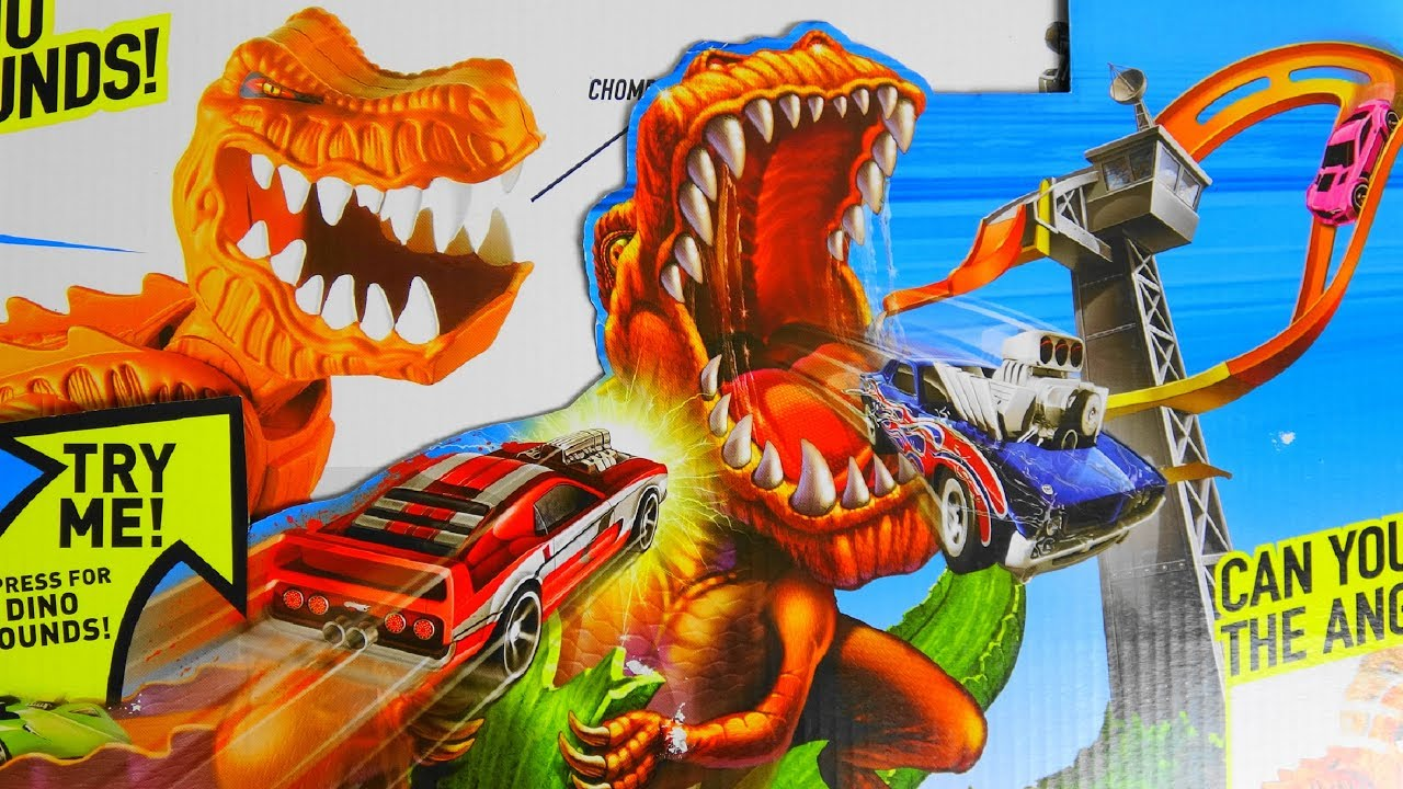 angry dino can you defeat him hot wheels t rex takedown. Black Bedroom Furniture Sets. Home Design Ideas