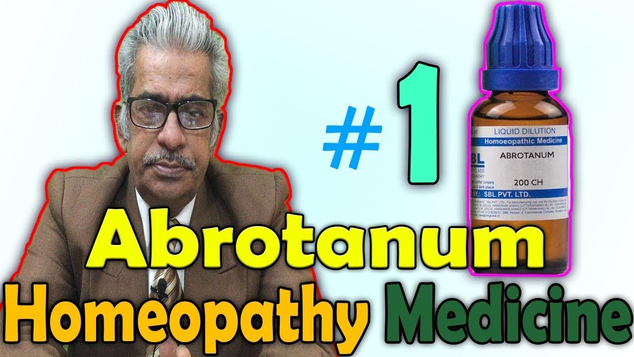 Homeopathy Medicine - Abrotanum (Part 1) -- Dr P S  Tiwari