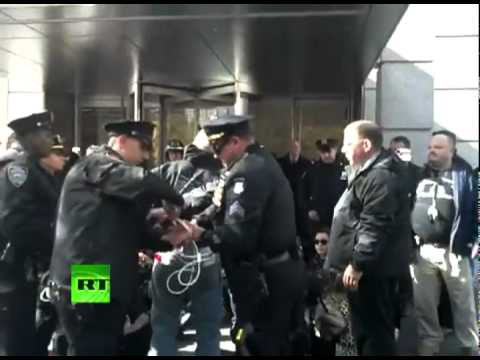 Chris Hedges arrested with others at Goldman Sachs headquarters