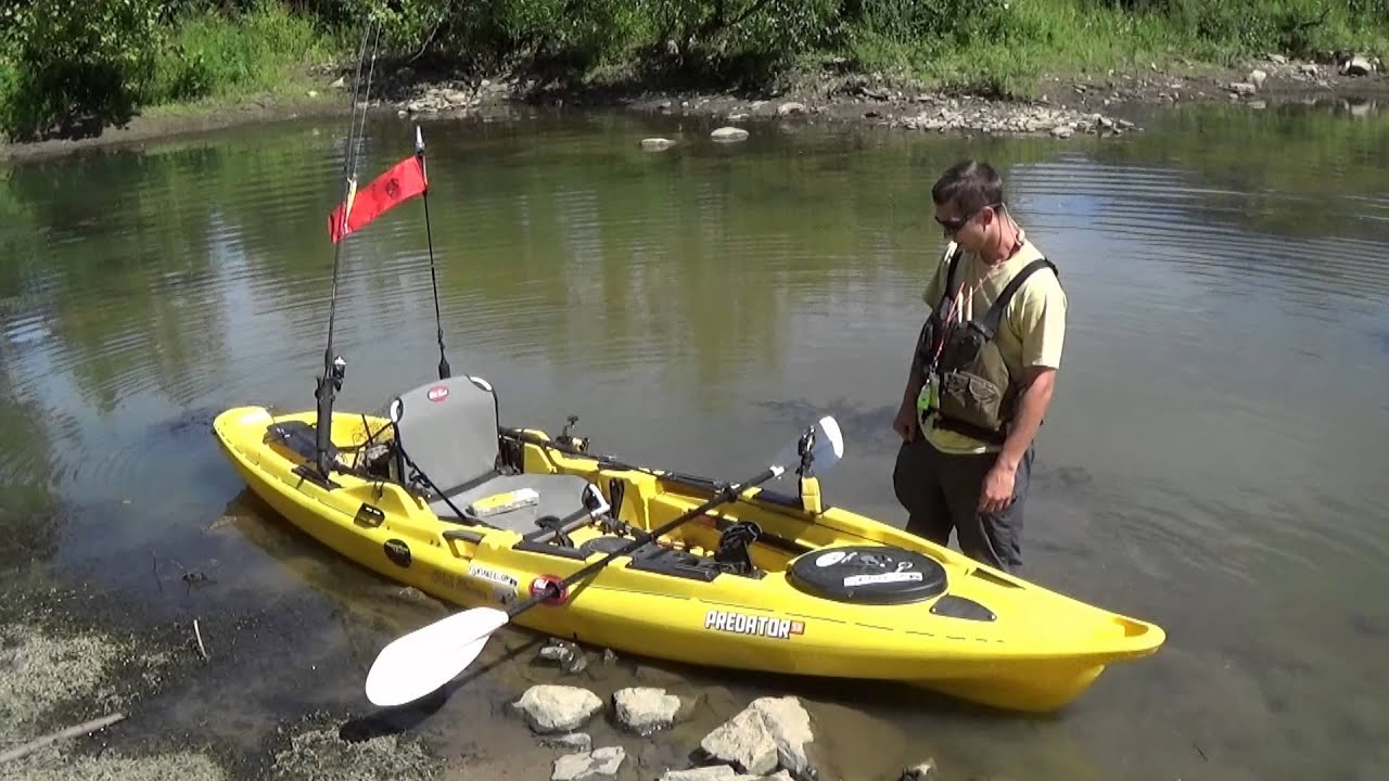 old town predator is a top stand up fishing kayak