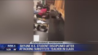 Video shows Skyline High School student attacking substitute teacher